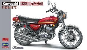 Byggmodell motorcykel - Kawasaki Kh400-A3/A4 - 1:12 - Hasegawa