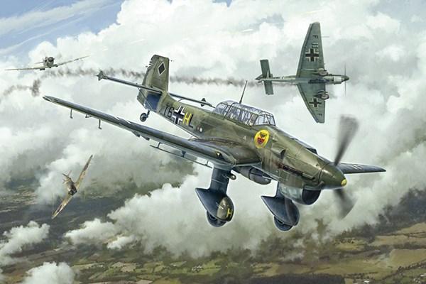 Byggmodell flygplan - JUNKERS JU-87 B STUKA  - 1:48 - Italieri