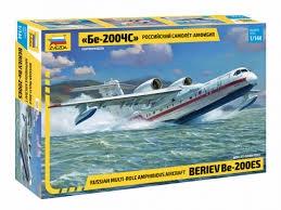 Byggmodell flygplan - Beriev B-200 ES amphibius - 1:144 - Zvezda
