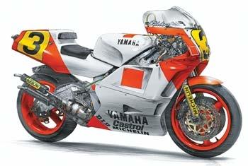Byggmodell motorcykel - Yamaha Yzr500 - 1:12 - Hasegawa