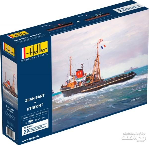 Byggmodell båt - JEAN BART UTRECHT 1:200 Heller