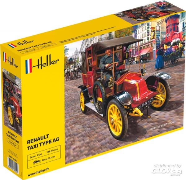 Byggmodell bil - Renault Taxi Type AG - 1:24 - Heller