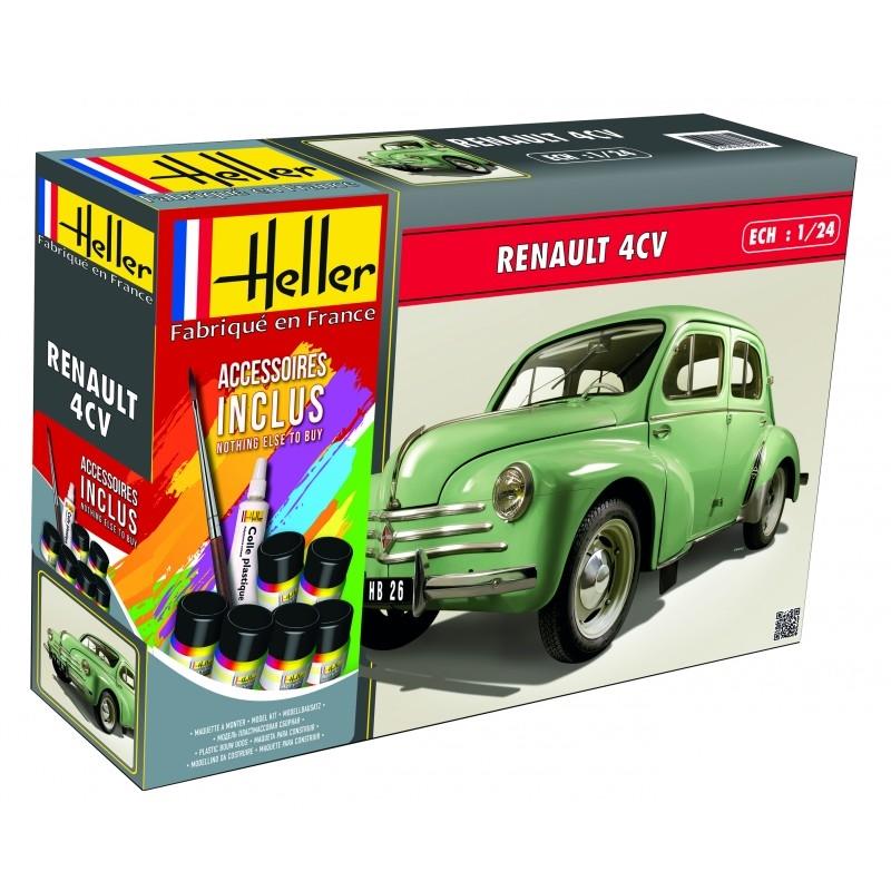 Byggmodell bil - Renault 4 CV COMPLETE - 1:24 - Heller