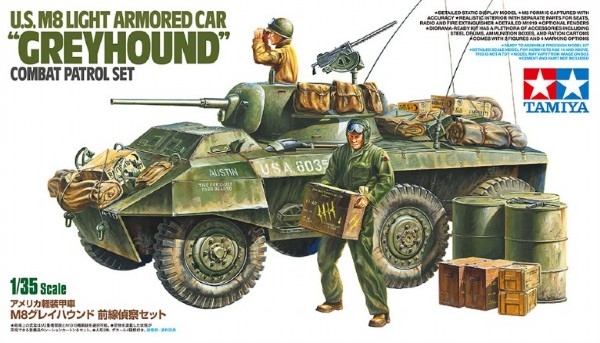 Byggmodell stridsfordon - U.S. M8 Light Armored Car - 1:35 - Tamiya