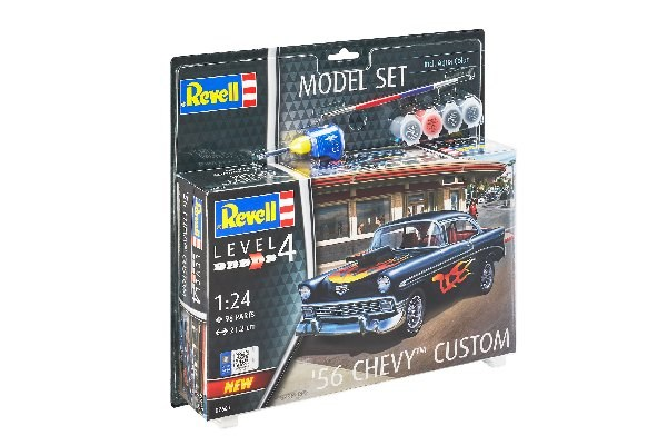 Byggmodell bil - Model Set '56 Chevy Customs - 1:24 - Revell