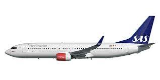 Byggmodell flygplan - Boeing 737-800 incl. SAS Decal - 1:144 - Zvezda