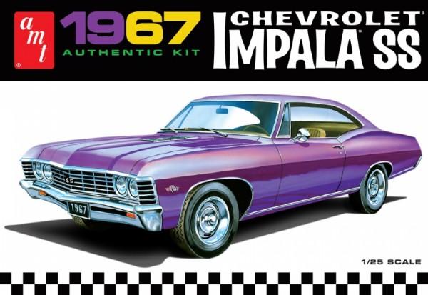 Byggmodell bil - 1967 Chevrolet Impala SS - 1:25-  AMT