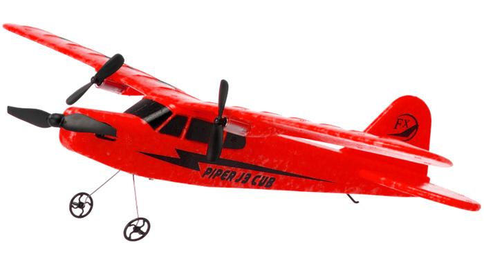 Radiostyrt flygplan - Piper J-3 Cub Röd - FX - RTF