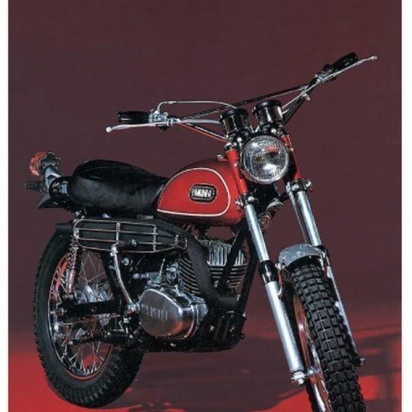 Byggmodell motorcykel - Yamaha 250 Enduro DT11 - 1:10 - Hasegawa