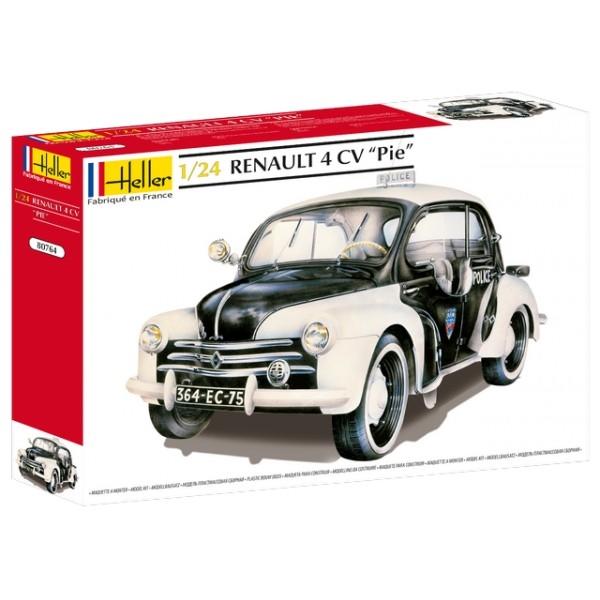 Byggmodell bil - Renault 4CV Pie - 1:24 - Heller