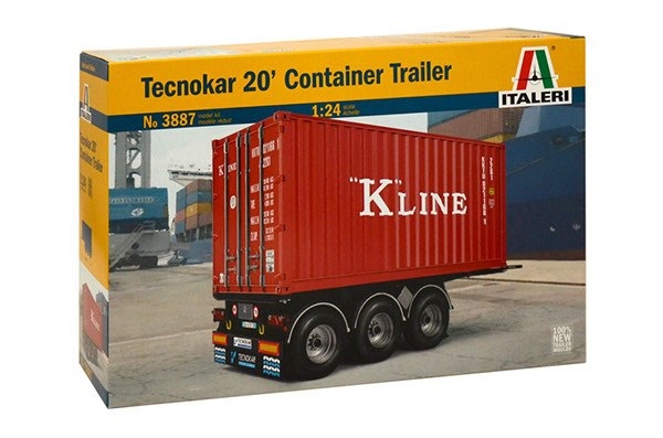 Byggmodell 20 fots Container Trailer - 1:24 - Italieri