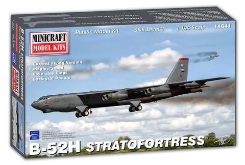 Byggmodell flygplan - B-52 H USAF (Current Flying Version) 1:144 Minicraft