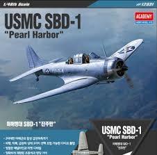 Byggmodell flygplan - USMC SBD-1 Pearl HarboR - 1:48 - Academy