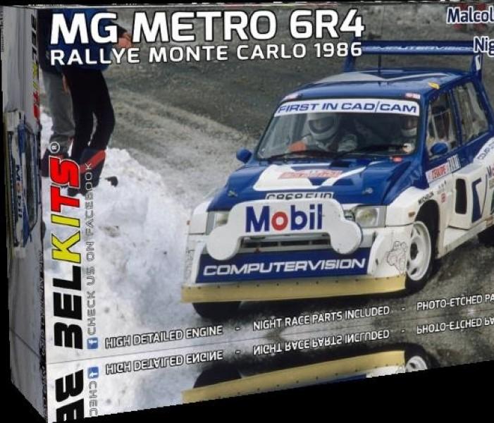 Byggmodell bil - Mg Metro 6R4 Rally Monte Carlo 1986 - 1:24 - BelKits