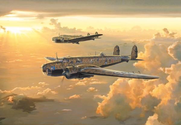 """Byggmodell flygplan - FIAT BR-20 """"Cicogna"""" Battle of Britain - 1:72 - Italieri"""