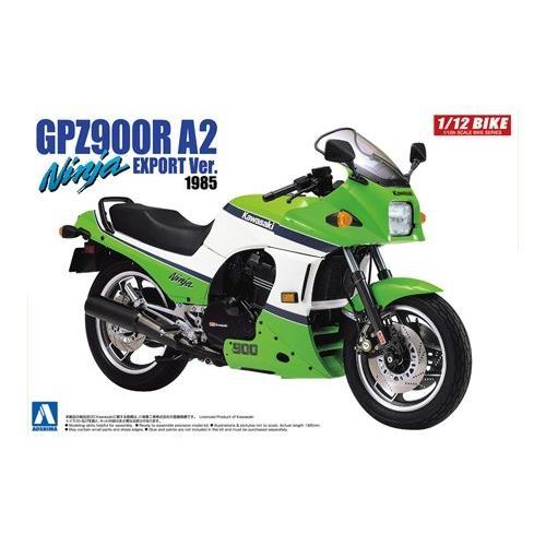 Byggmodell motorcykel - Kawasaki GPZ900Z Ninja A2 Export - 1:12 - Aoshima
