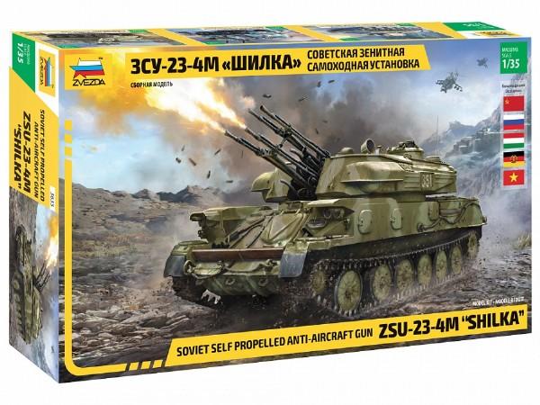 Byggmodell stridsfordon - ZSU-23-4M Shilka - 1:35 - Zvezda