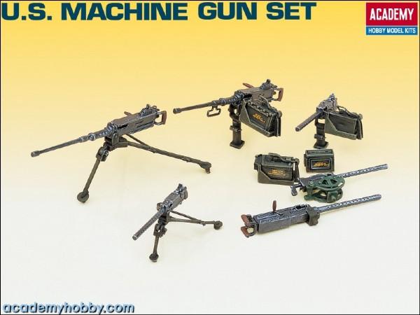 Machine Gun set - 1:35 - Academy