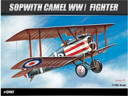 Byggmodell flygplan - Sopwith Camel 1:72 Academy