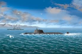 Byggmodell ubåt - HMS Astute - 1:700 - HobbyBoss