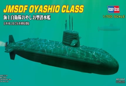 Byggmodell ubåt - JMSDF Oyashio Class - 1:700 - HobbyBoss