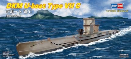 Byggmodell ubåt - DKM U-Boat Type VII C - 1:700 - HobbyBoss