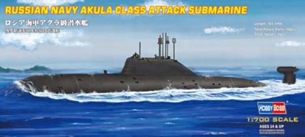 Byggmodell ubåt - Akula Class Attack Sub - 1:700 - HobbyBoss