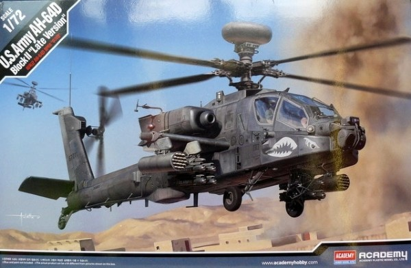 Byggmodell helikopter - AH-64D Block II Late Ver. - 1:72 - Academy