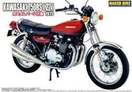 Byggmodell motorcykel - Kawasaki 750 Roadster ZII - 1:12 - Aoshima