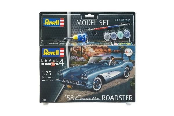 Byggmodell bil - Model Set 58 Corvette Roadster - 1:25 - Revell