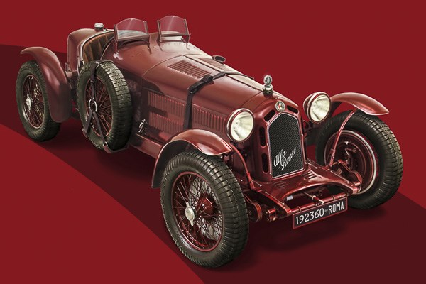 Byggmodil bil - Alfa Romeo 8C 2300 Roadster 100th Anniv. - 1:12 - Italieri