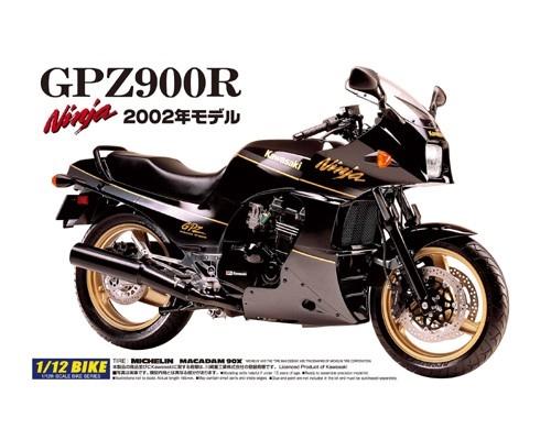 Byggmodell motorcykel - Kawasaki Gpz900R Ninja 02 - 1:12 - Aoshima
