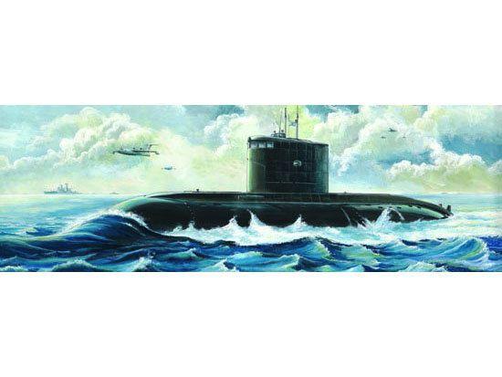 Byggmodell ubåt - Russ. Kilo Class 1:144 Trumpeter