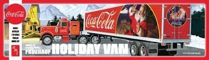 Byggmodell lastbil - Fruehauf Holiday Hauler Semi Trailer Coca Cola - 1:25 - AMT