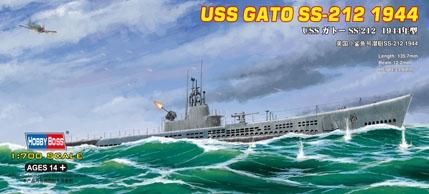 Byggmodell ubåt - USS Gato Ss-212 1944 - 1:700 - HobbyBoss