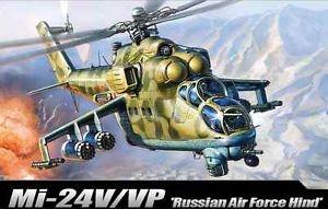 Byggmodell helikopter - Mi-24V/Vp Hind E - 1:72 - Academy