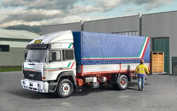 Byggmodell lastbil - IVeco Turbostar 190.42 Canvas Truck - 1: 24 - Italieri