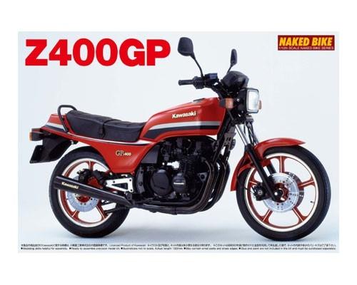 Byggmodell motorcykel - KAWASAKI Z400GP - 1:12 - Aoshima