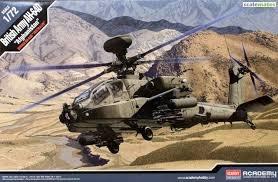 Byggmodell helikopter - Ah-64D Royal Army - Afganistan - 1:72 - Academy