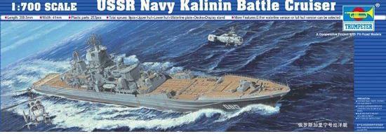 Byggmodell krigsfartyg - Soviet Kalinin - 1:700 - Trumpeter