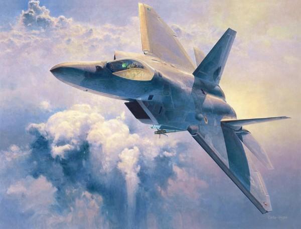 Byggmodell flygplan - F-22 Raptor - 1:48 - Hasegawa