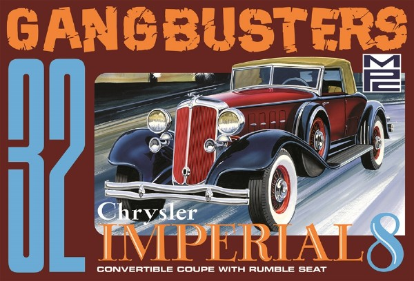 Byggmodell bil - 1932 Chrysler Imperial Gangbusters - 1:25 - MPC