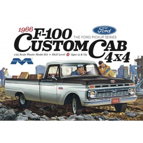 Byggmodell bil - 1966 Ford F100 Custom Cab 4 x 4 1:25 Mebius Models