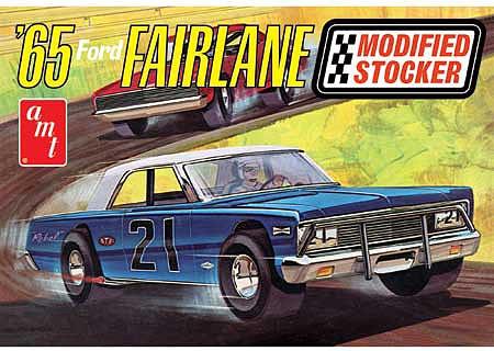 Byggmodell bil - 1965 Ford Fairlane Modified Stocker - 1:25 - AMT