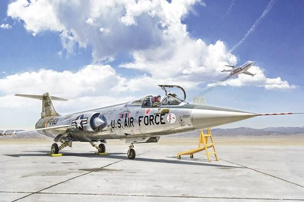 Byggmodell flygplan - F-104 A/C Starfighter - 1:32 - Italieri