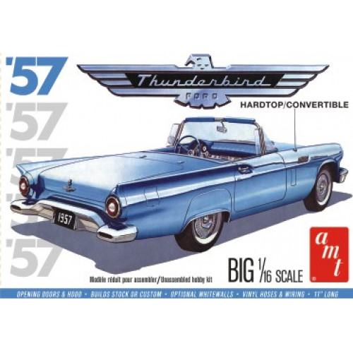 Byggmodell bil - 1957 Ford Thunderbird - 1:16 - AMT