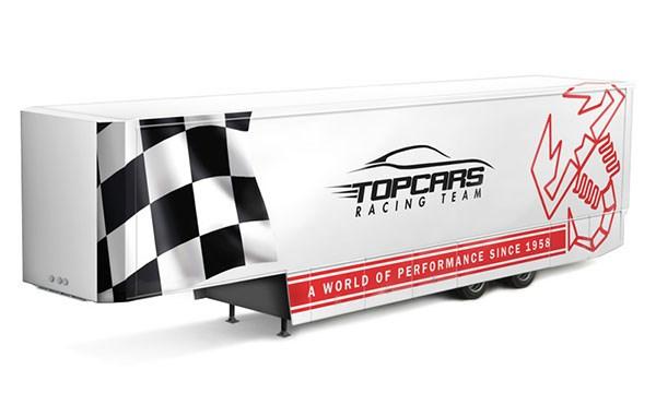 Byggmodell lastbil - Racing Trailer 1:24 Italieri