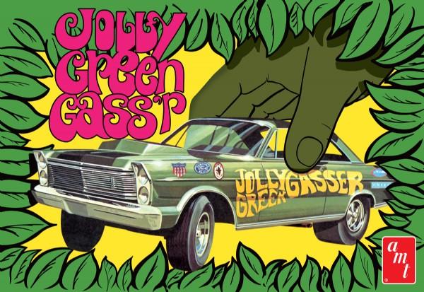 Byggmodell bil - 1965 Ford Galaxie Jolly Green Gasser - 1:25 - AMT