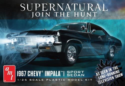 Byggmodell bil - 1967 NightHunter Chevy Impala 4-Door Supernatural 1:25 AMT