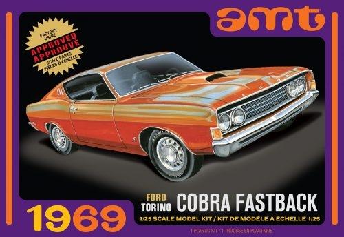 Byggmodell bil - 1969 Ford Torino Cobra Fastback 1:25 AMT